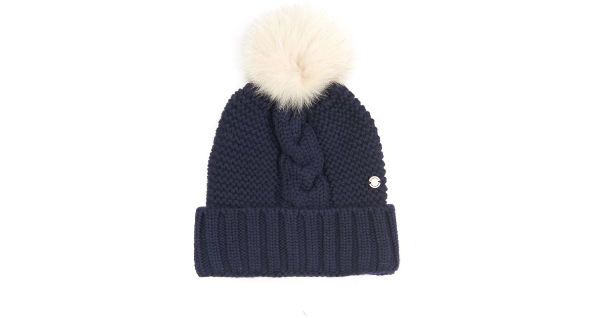 Lyst - Woolrich Serenity Cable-Knit Wool Beanie Hat in Blue c8b27acf5bbd
