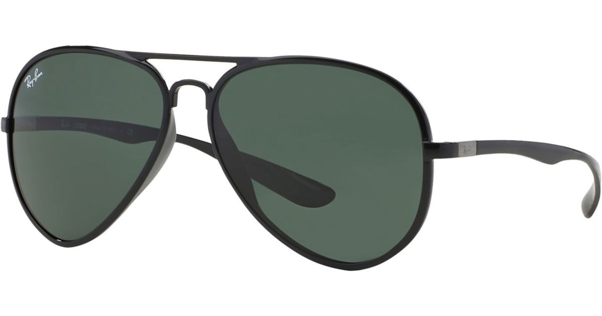 ca10ac52e55 Lyst - Ray-Ban Rb4180 59 Aviator Liteforce in Green for Men