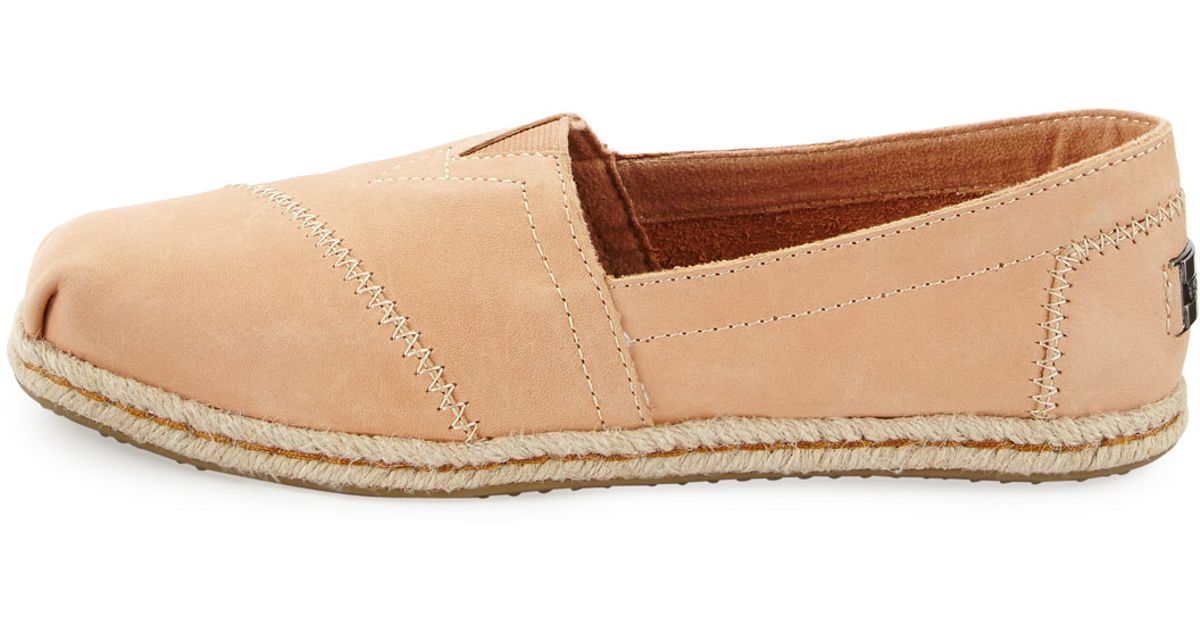 885c15044b TOMS Seasonal Classic Alpargata Leather Slip-on in Natural - Lyst