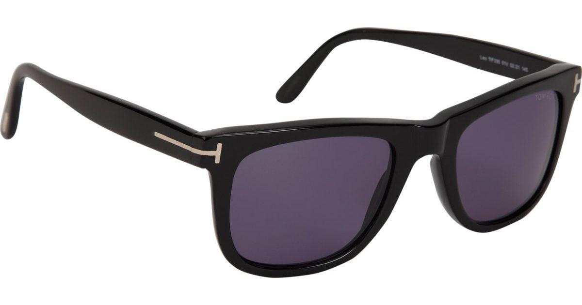 c6f6f0c3c Tom Ford Leo Sunglasses in Black for Men - Lyst