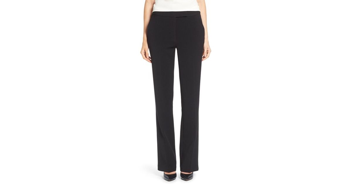 d56cdee8c Lyst - Ellen Tracy Straight Leg Stretch Twill Pants in Black
