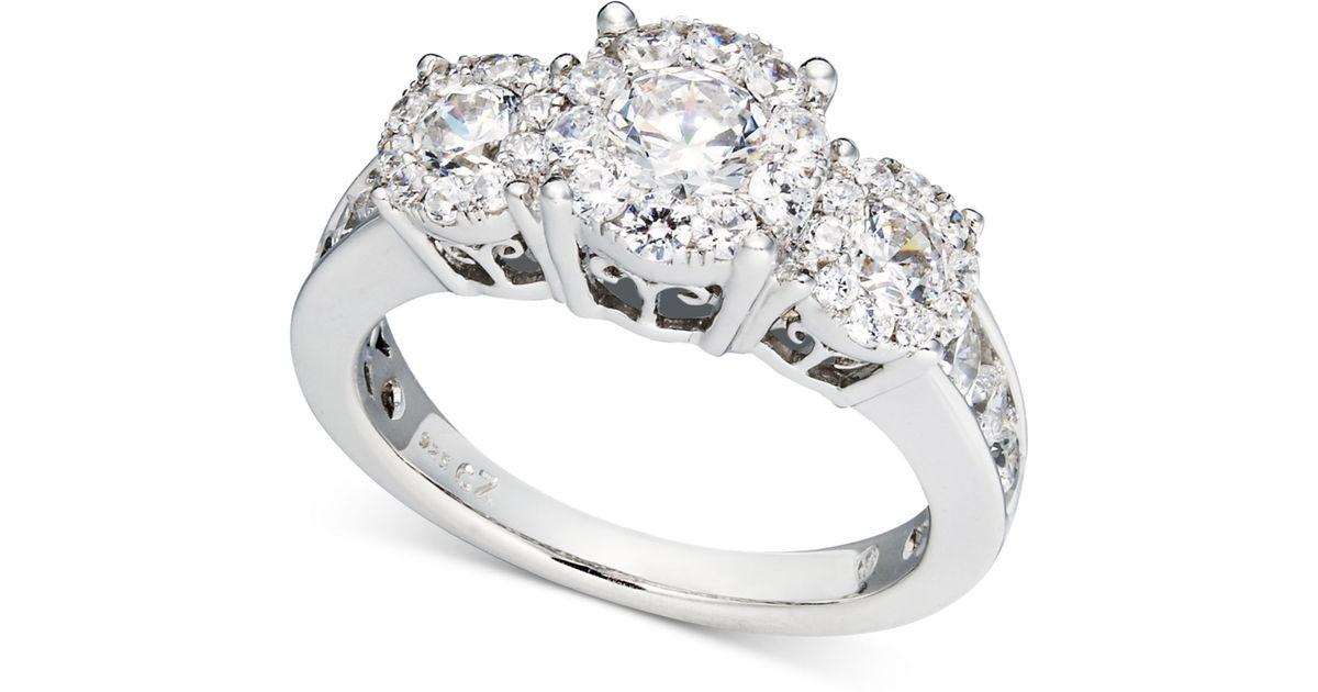Macy s Diamond Engagement Ring And Wedding Band Bridal Set In 14k White G
