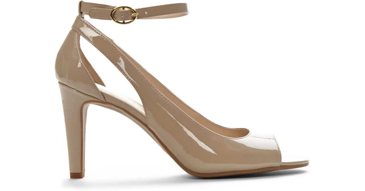 Lyst - Franco Sarto Nude Emmy Peep Toe Pumps in Natural 11ff9015daee