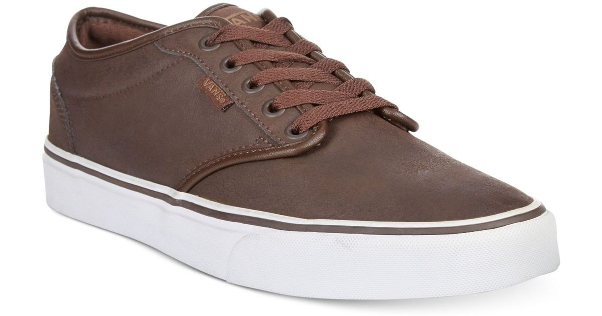 Lyst - Vans Atwood Buck Leather Sneakers in Brown for Men 39f8c8ffd