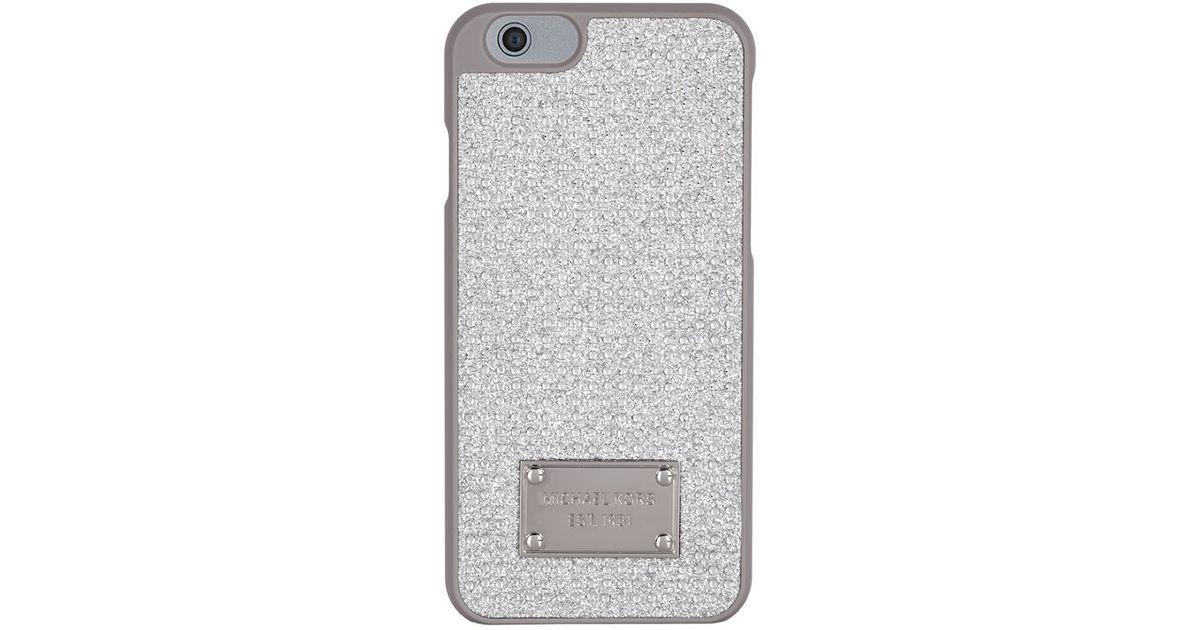 michael michael kors embellished glitter iphone 6 case in metallic. Black Bedroom Furniture Sets. Home Design Ideas