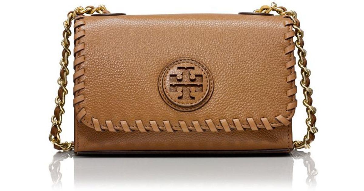631e6e25099 closeout lyst tory burch marion shrunken shoulder bag in brown 5fd59 f1815