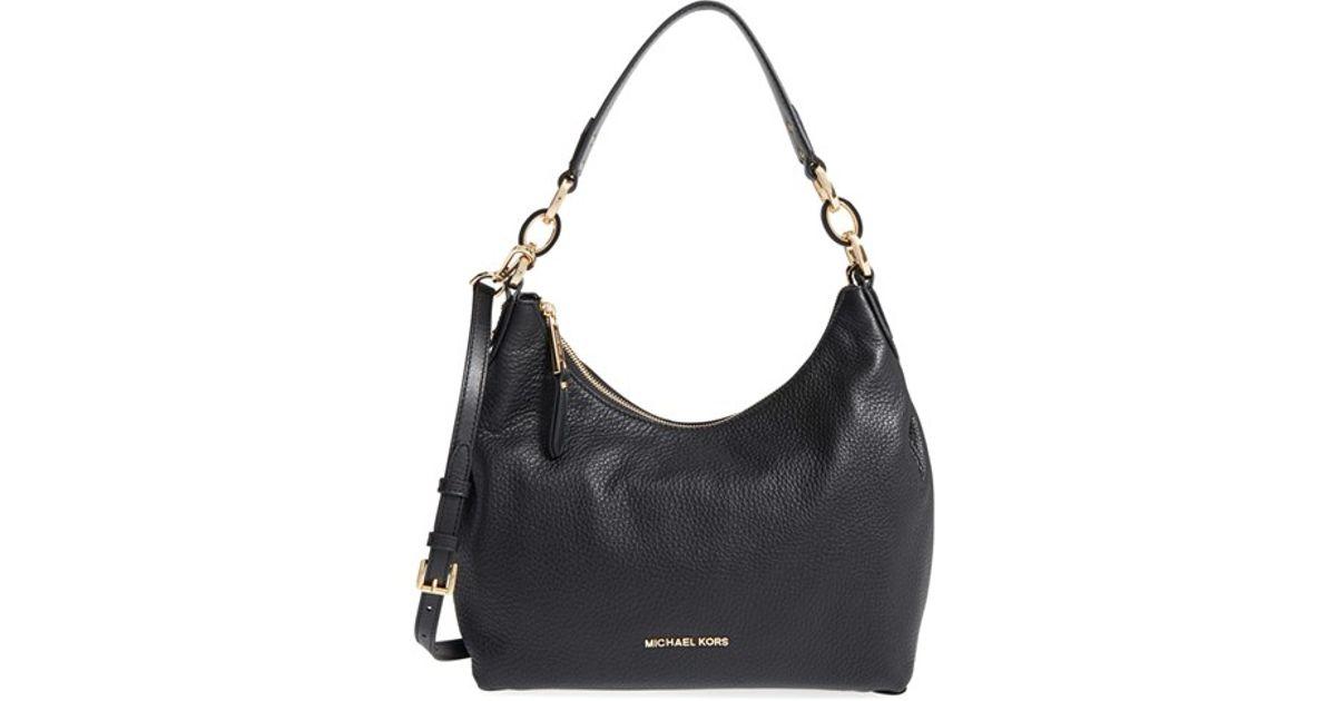 bc609b368656 Lyst - MICHAEL Michael Kors  medium Isabella  Convertible Leather Shoulder  Bag in Black