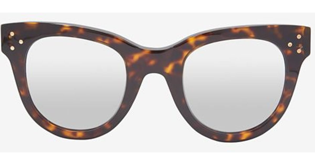 a2ee8073c69 Lyst - Spektre Silver Mirrored Lense She Loves You Tortoise Sunglasses in  Brown