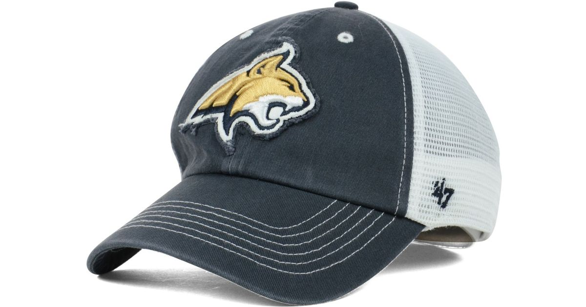 huge discount 0c845 4a6c3 ... cheap lyst 47 brand montana state bobcats blue mountain franchise cap  in blue for men d8281