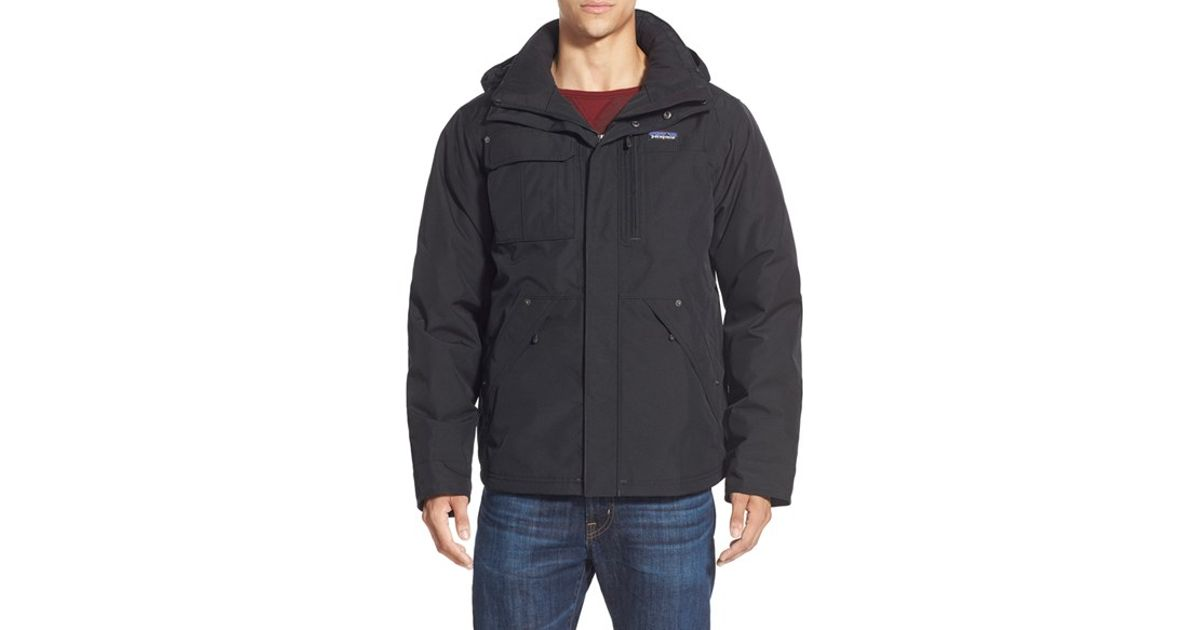 Patagonia 'wanaka' Waterproof Down Parka in Black for Men | Lyst