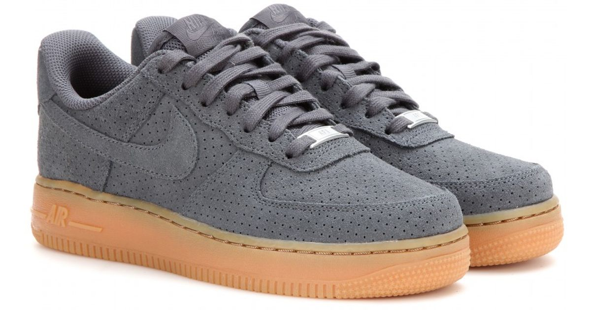 01c53fa3dea2f4 ... cheap lyst nike air force 1 suede sneakers in gray 1bc6d 1d3c2