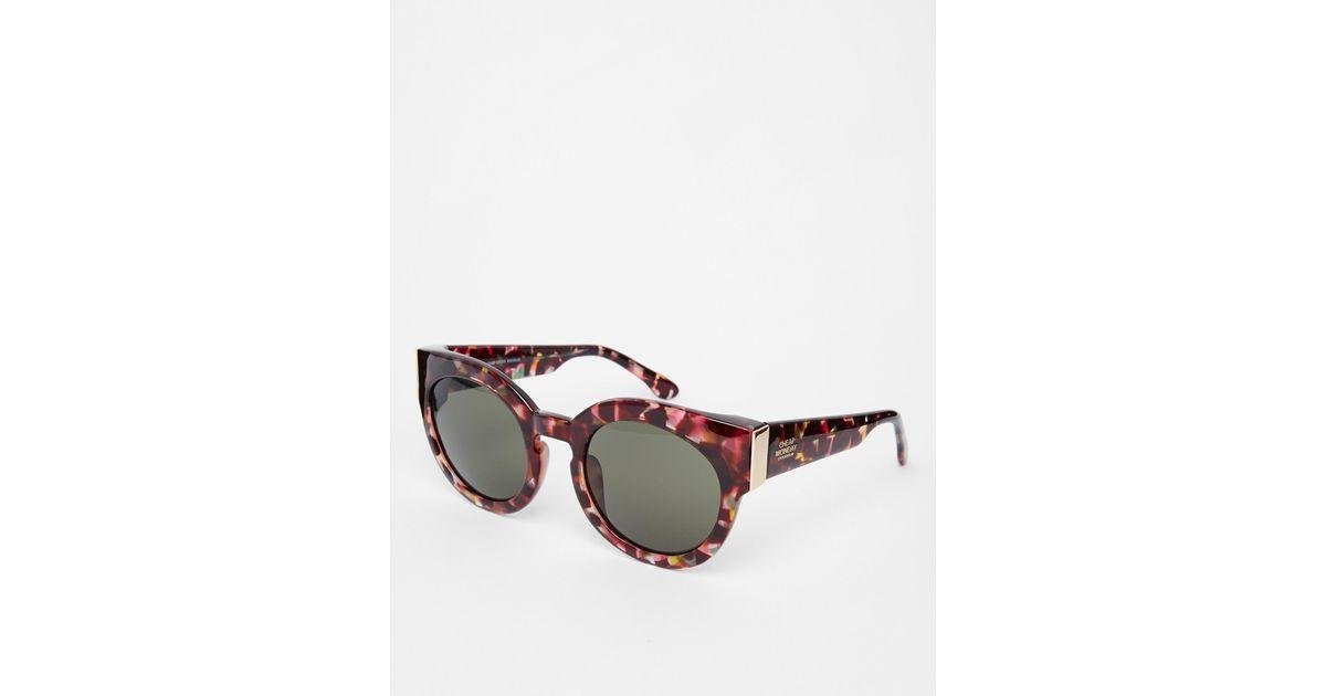 Brown Monday Cat Eye Sunglasses Lyst Chunky Cheap PwXn08Ok
