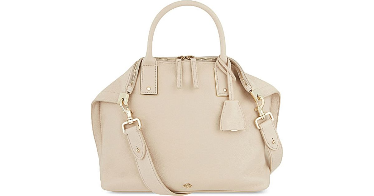 Mulberry Alice Small Leather Shoulder Bag in Natural - Lyst 00a748771d881
