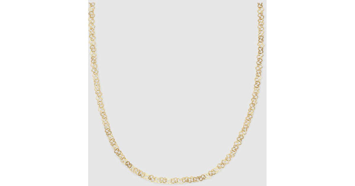 4ebc490a52 Gucci Icon Necklace In Yellow Gold in Metallic - Lyst