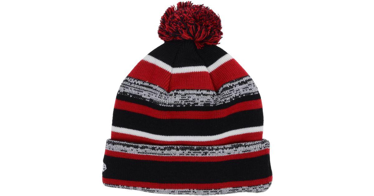 5699d5de KTZ - Red Ball State Cardinals Sport Knit Hat for Men - Lyst
