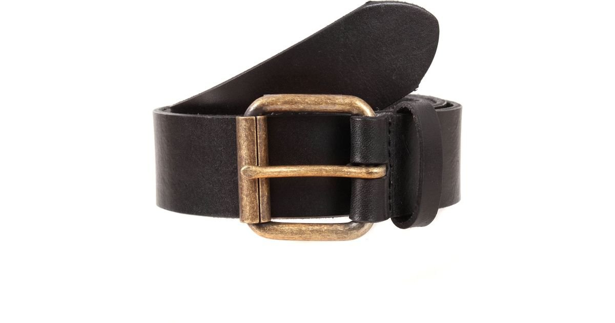 dents mens waxed leather belt in blue for lyst