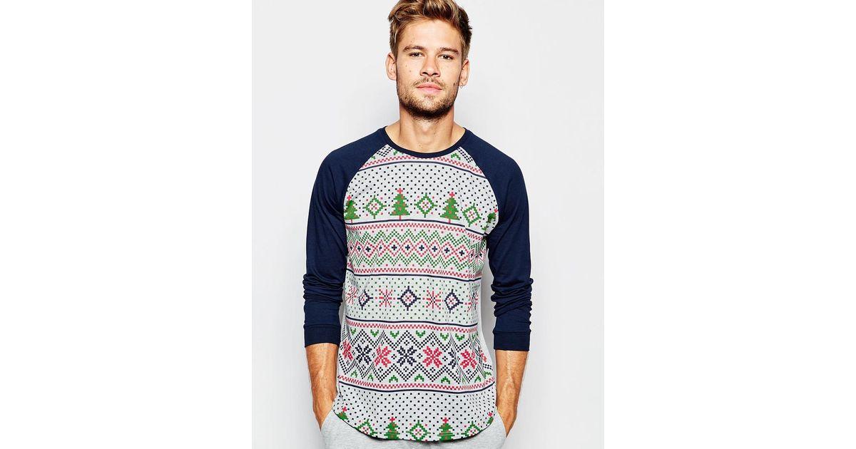 Lyst - Asos Loungewear Set With Christmas Fair Isle Print for Men