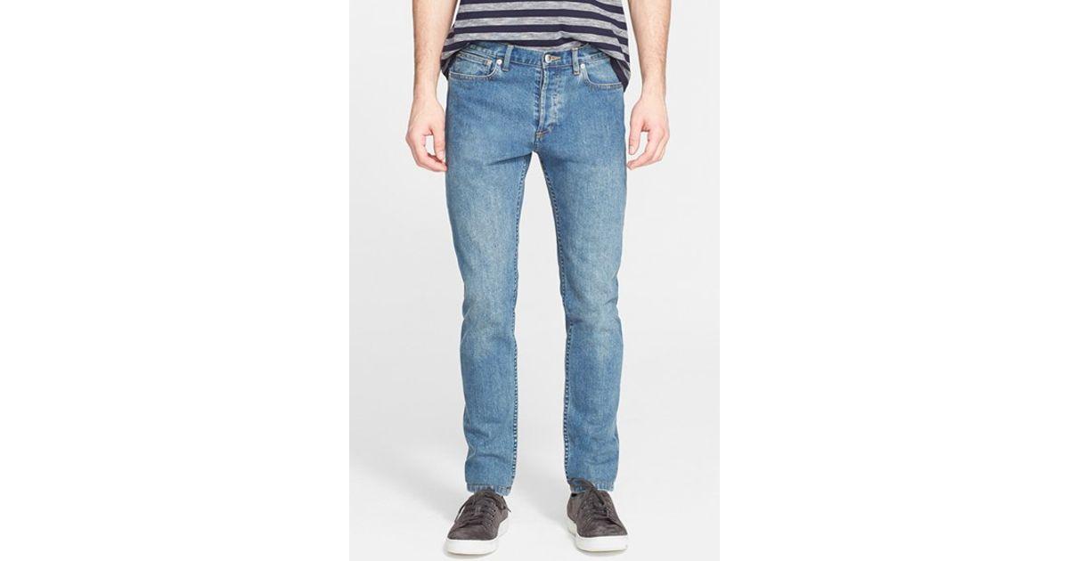 a p c 39 petit new standard 39 skinny fit jeans in blue for men lyst. Black Bedroom Furniture Sets. Home Design Ideas