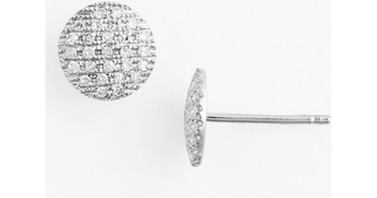 Dana Rebecca Lauren Joy Diamond Disc Stud Earrings In