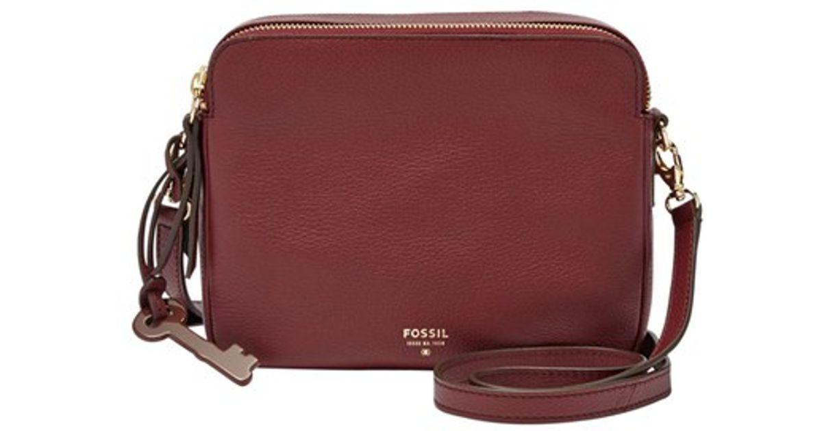 a5c1a183a0a Lyst - Fossil  sydney  Leather Crossbody Bag in Purple
