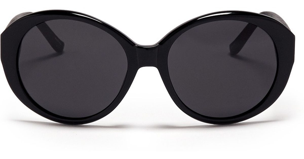 af9e463dee4c Lyst - The Row X Linda Farrow Leather Arm Sunglasses in Black