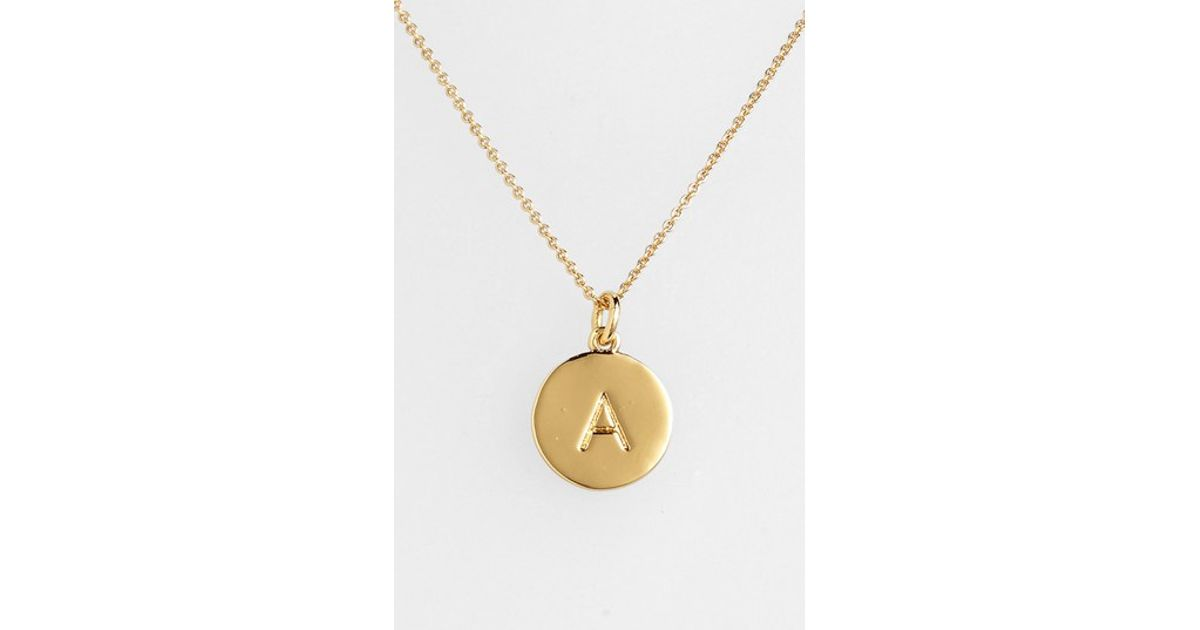 kate spade one in a million initial pendant necklace in