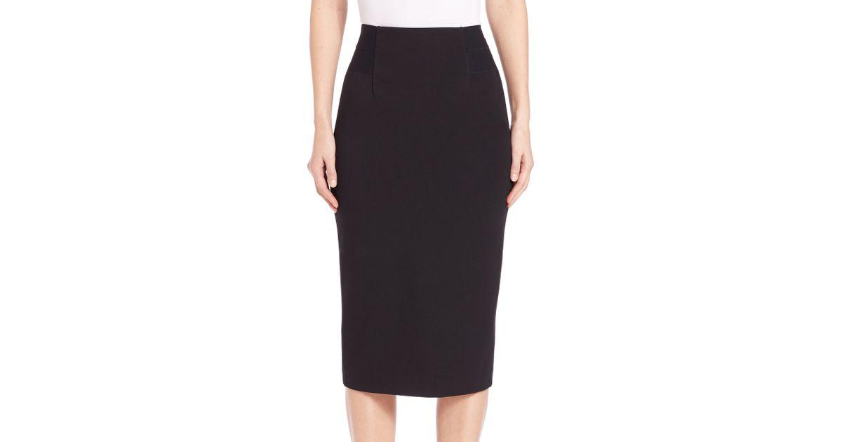 8e140c2f8 Diane von Furstenberg Geri Pencil Skirt in Black - Lyst