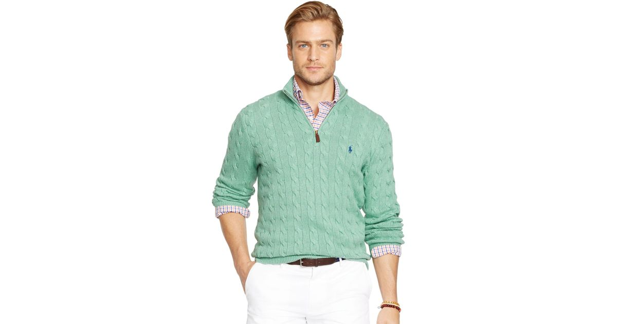 Polo ralph lauren Cable-knit Silk Sweater in Green for Men (Mint Green)