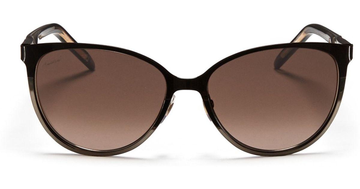 de4faaa63d1 Lyst - Gucci Twist Temple Two-tone Metal Sunglasses in Metallic