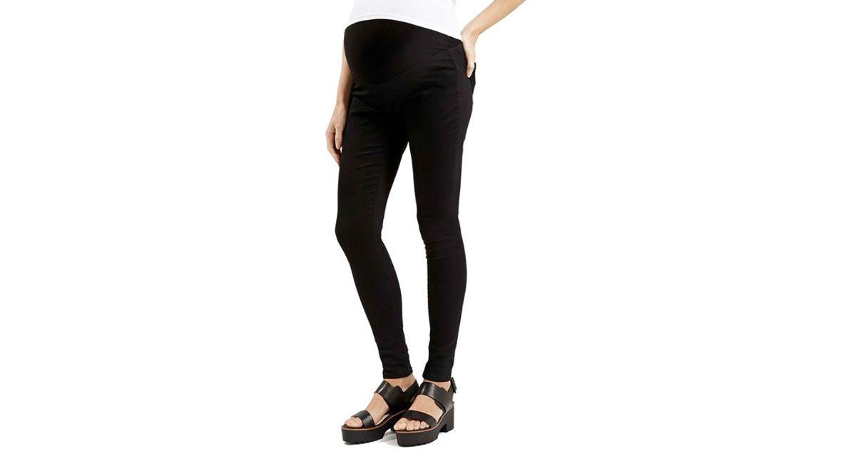 Maternity Moto Black Over The Bump Joni Jeans Topshop ...