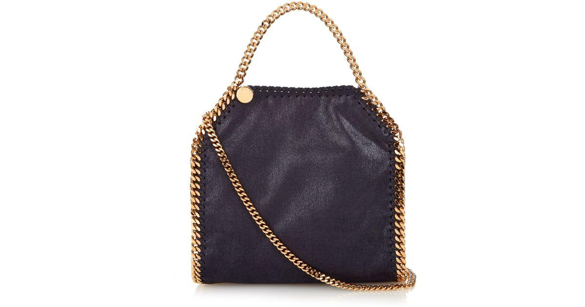 Stella McCartney Mini Bella Mini Faux Suede Cross-body Bag in Blue - Lyst f431cba438fc4