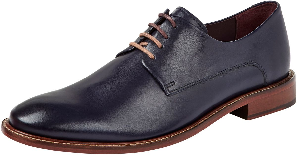 8517fc076232d7 Ted Baker Irron 2 Classic Leather Derby Shoes in Blue for Men - Lyst