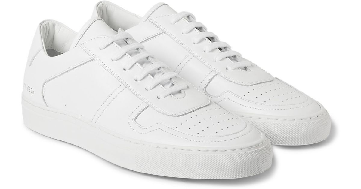 e8b2e1d4b312e Lyst - Common Projects Bball Low Leather Sneakers in White for Men