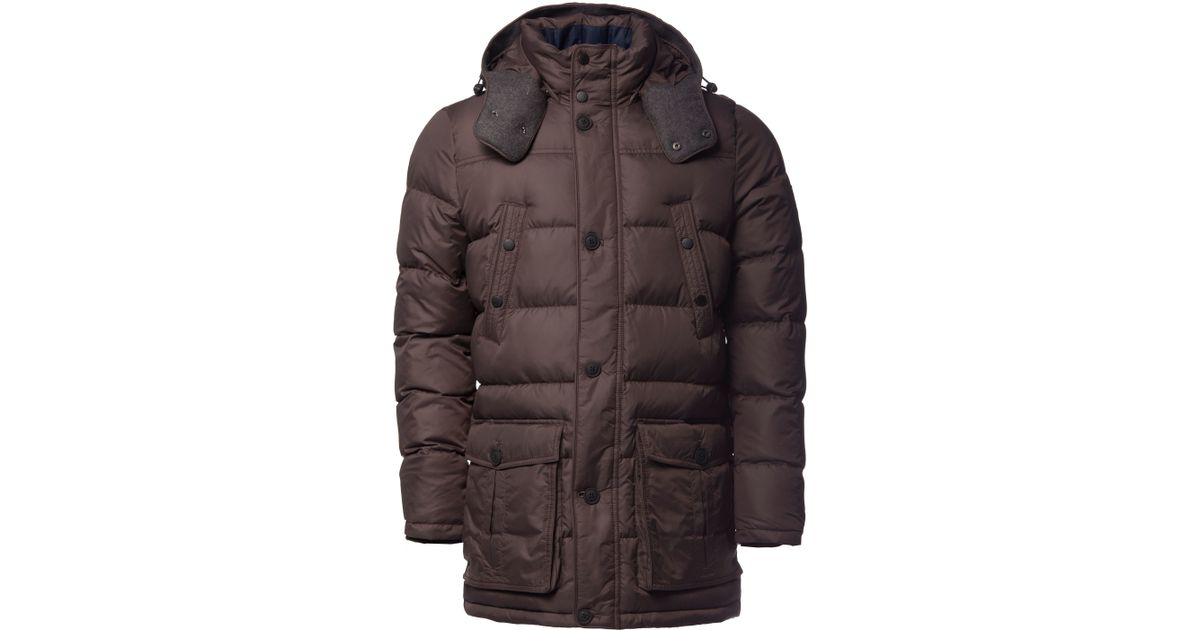 tommy hilfiger new york down parka in brown for men lyst. Black Bedroom Furniture Sets. Home Design Ideas