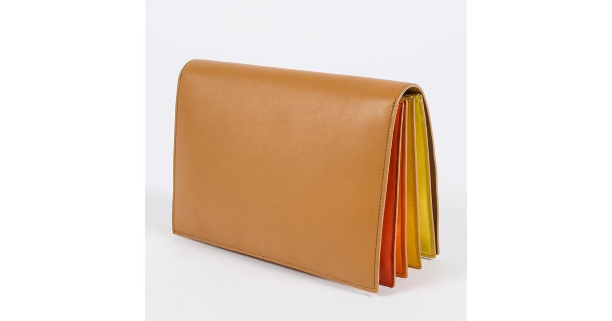 Paul Smith Women s Tan  concertina  Clutch Bag in Brown - Lyst 85cd1f5e61