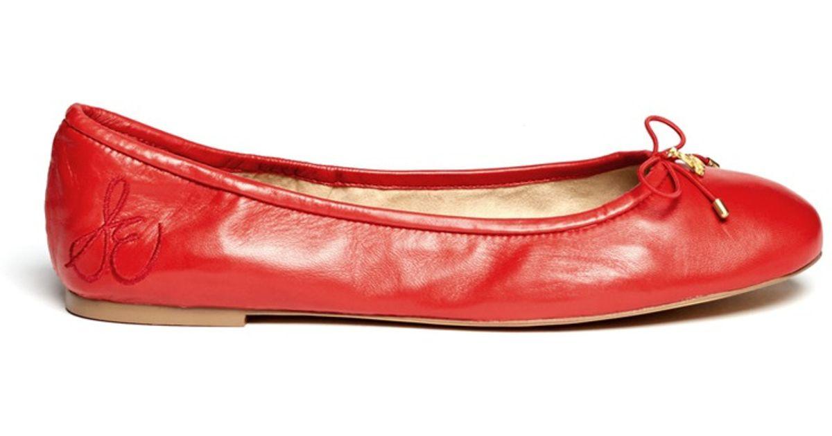 Sam Edelman Felicia Leather Ballet Flats i139L3S