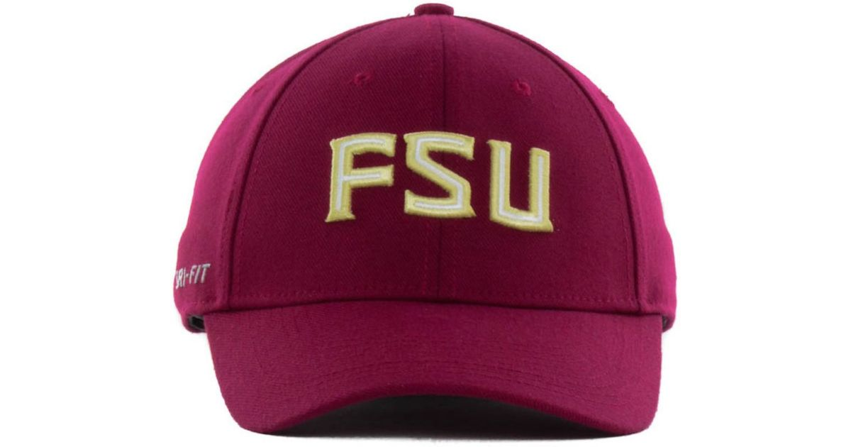 sale retailer 4e06f b7cdf ... good lyst nike florida state seminoles ncaa dri fit swooshflex cap in  gray for men de80d