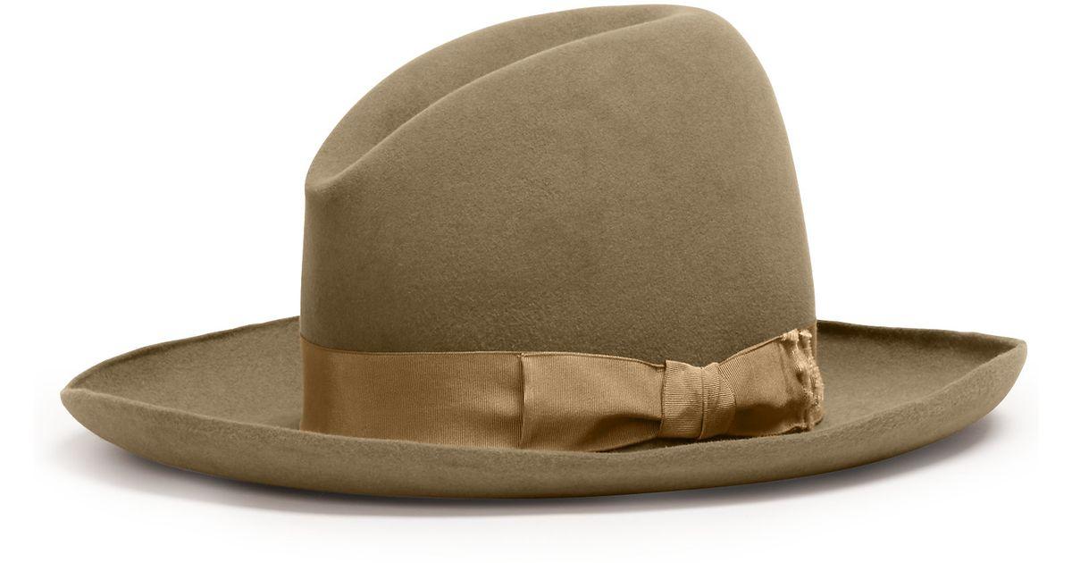 b83b3ff8136 Lyst - Ralph Lauren Cashmere-angora Cowboy Hat in Natural