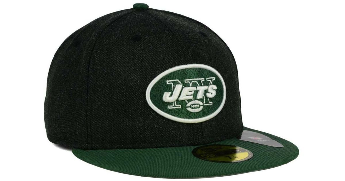 purchase cheap f1927 47893 ... top quality lyst ktz new york jets heather action 2 tone 59fifty cap in  black for