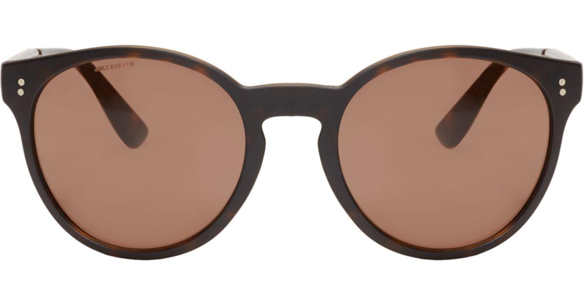 a18b1c0c8dde Lyst - Burberry Tortoiseshell Round Folding Sunglasses in Brown for Men