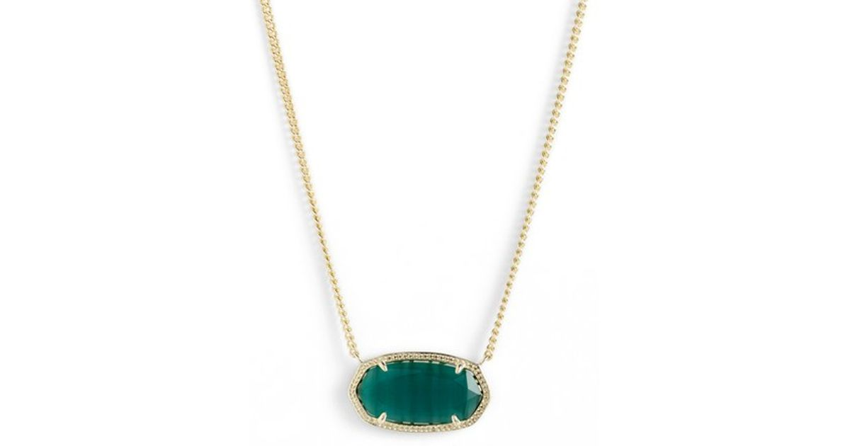 Lyst kendra scott dylan stone pendant necklace in green aloadofball Images