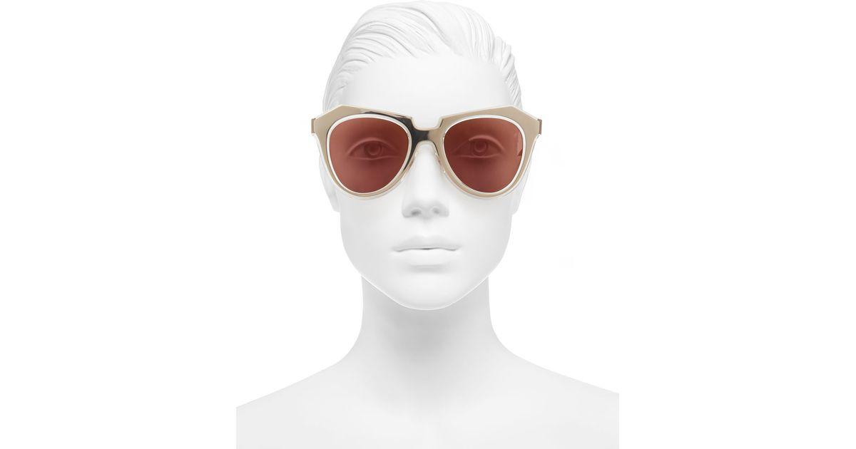 f089efb7f14 Lyst - Karen Walker Gold Super Duper Strength Acetate Sunglasses in Metallic