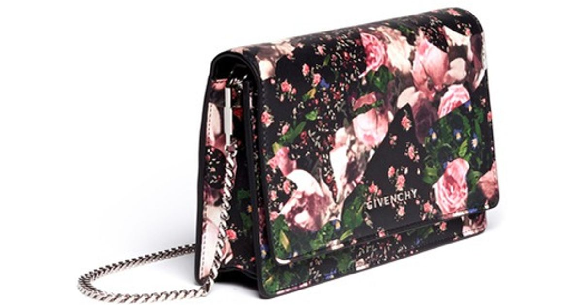 a9973d3bbc Lyst - Givenchy Flower Camouflage Print Chain Wallet