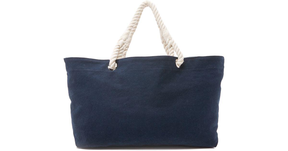 Frame Beach Bag in Blue | Lyst