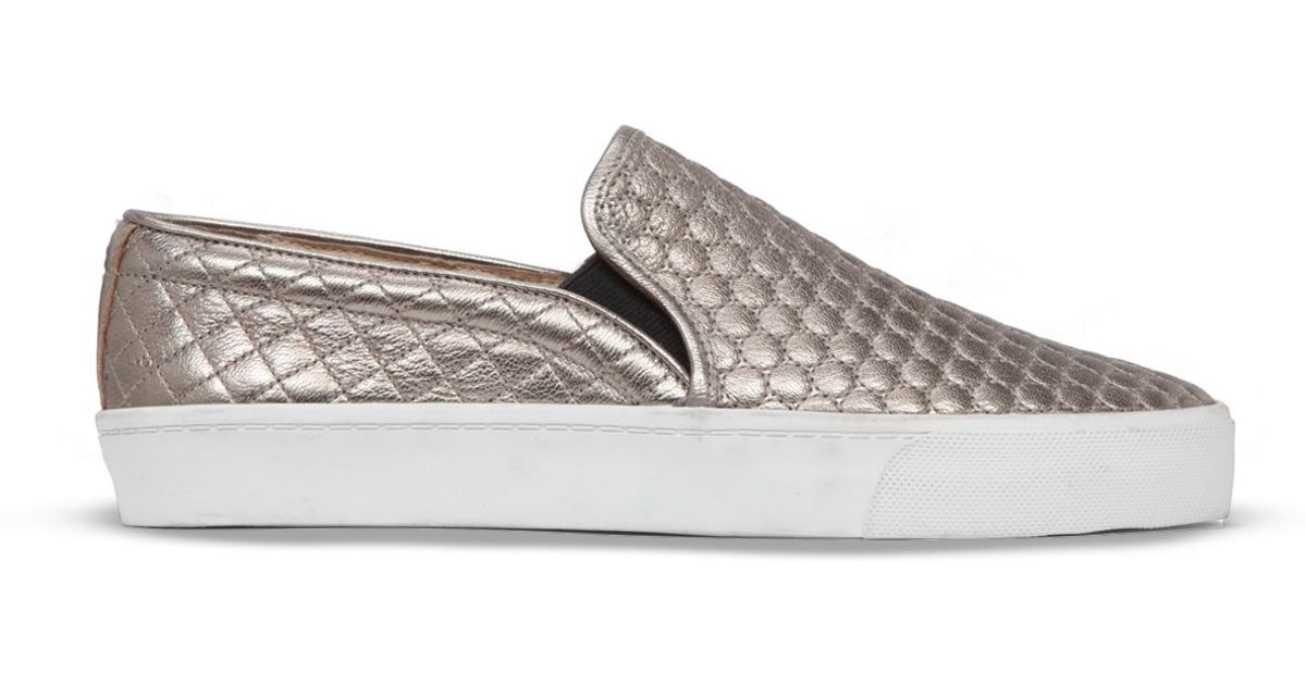 b6ffc515adf233 Lyst - Vince Camuto Slip On Sneakers - Banner Metallic Quilted in Metallic