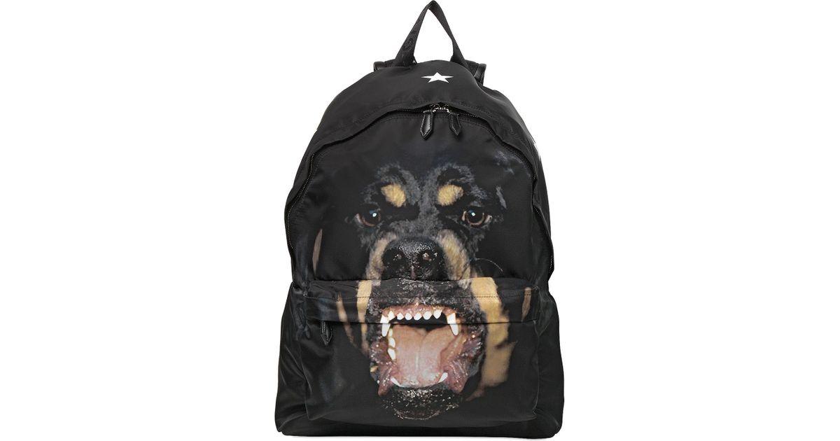 Givenchy Rottweiler Printed Nylon Backpack in Black for Men - Lyst 842580de1294f