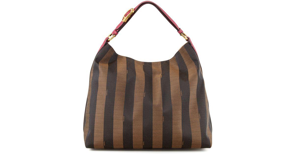Lyst - Fendi Pequin Borsa Hobo Bag in Pink c9e193b571b