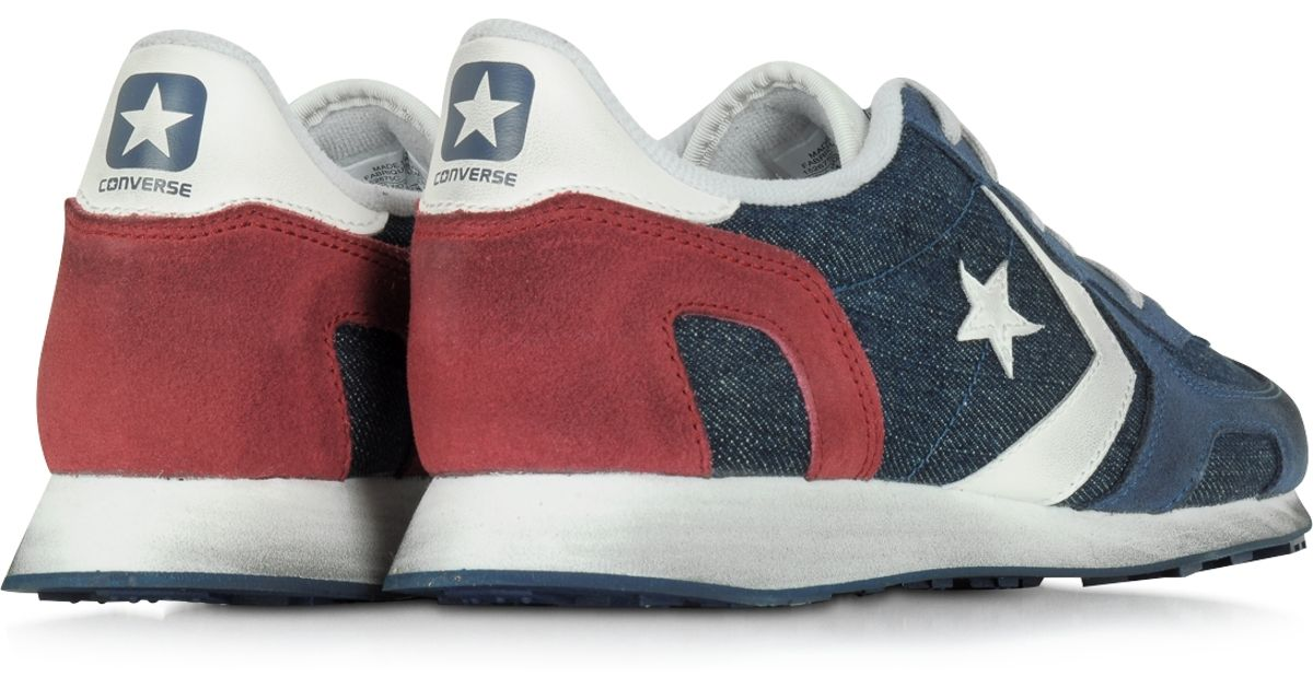 d818cd3836cd Lyst - Converse Auckland Racer Ox Denim And Suede Men s Sneaker in Blue for  Men