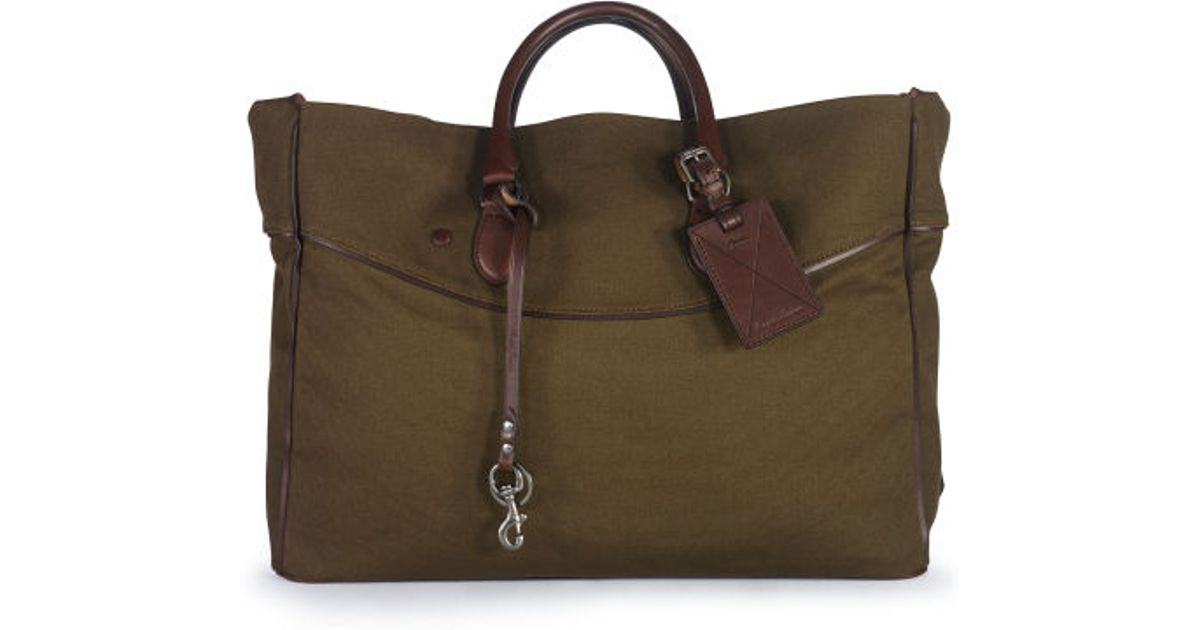 26f3500446 Lyst - Ralph Lauren Large Canvas Tote in Green for Men