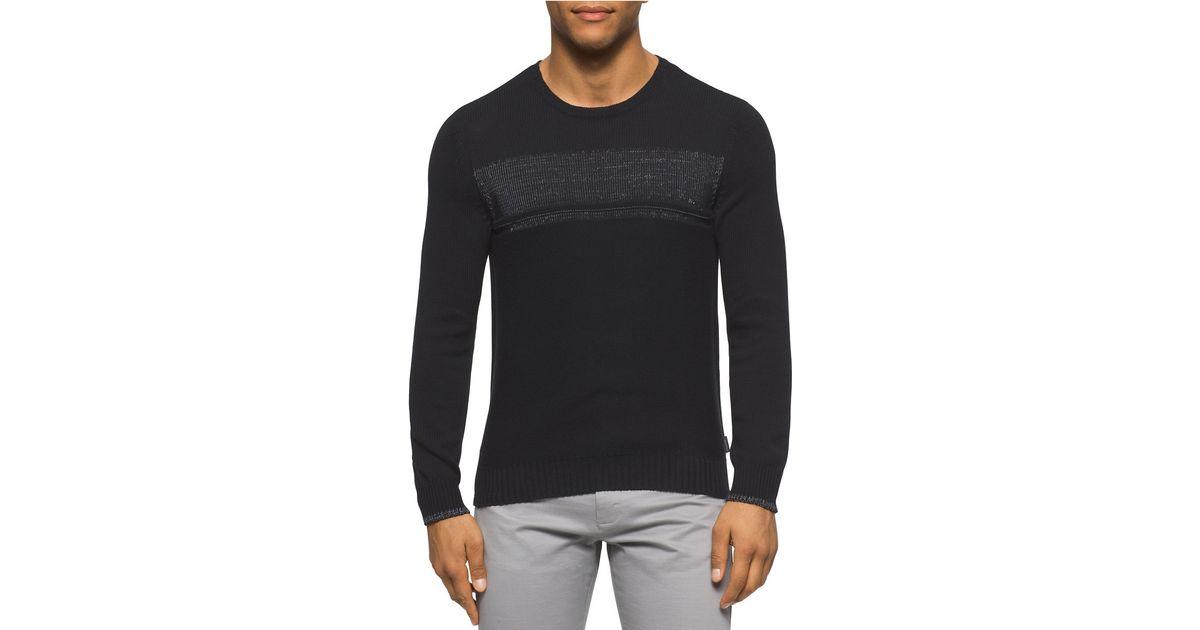 calvin klein pullover sweater in black for men save 50. Black Bedroom Furniture Sets. Home Design Ideas